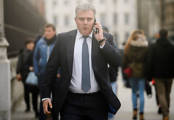 © Licensed to London News Pictures. 12/12/2018. London, UK. Conservative party Chairman BRANDON LEWIS is seen Entering Parliament in Westminster as Prime Minister Theresa May faces a vote of no confidence from her own party. Photo credit: Ben Cawthra/LNP