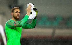 Jan Oblak of Slovenia after the 2020 UEFA European Championships group G qualifying match between Slovenia and Latvia at SRC Stozice on November 19, 2019 in Ljubljana, Slovenia. Photo by Vid Ponikvar / Sportida