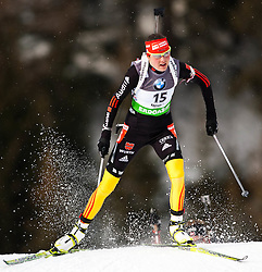 "19.01.2012, Südtirol Arena, Antholz, ITA, E.ON IBU Weltcup, 6. Biathlon, Antholz, Sprint Damen, im Bild Tina Bachmann (GER) // Tina Bachmann (GER) during Sprint Women E.ON IBU World Cup 6th, ""South Tyrol Arena"", Antholz-Anterselva, Italy on 2012/01/19, EXPA Pictures © 2012, PhotoCredit: EXPA/ Juergen Feichter"