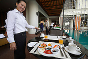 Lebua at State Tower Hotel. Breakfast buffet at Mezzaluna restaurant.