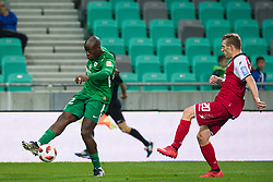 Jucie Lupeta, Sanin Muminovic during football match between NK Olimpija Ljubljana and Aluminij in Round #9 of Prva liga Telekom Slovenije 2018/19, on September 23, 2018 in Stozice Stadium, Ljubljana, Slovenia. Photo by Morgan Kristan