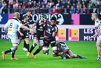 Iosefa TEKORI - 24.04.2015 - Stade Francais / Stade Toulousain - 23eme journee de Top 14<br />Photo : Dave Winter / Icon Sport