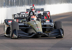 March 10, 2019 - St. Petersburg, FL, U.S. - ST. PETERSBURG, FL - MARCH 10: Schmidt Peterson Motorsports driver James Hinchcliffe (5) of Canada during the IndyCar Series - Firestone Grand Prix Race on March 10 in St. Petersburg, FL. (Photo by Andrew Bershaw/Icon Sportswire) (Credit Image: © Andrew Bershaw/Icon SMI via ZUMA Press)