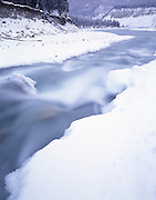 Winter, Ice, snow, Nenana River, River, Denali, Denali National Park, National Park, Alaska