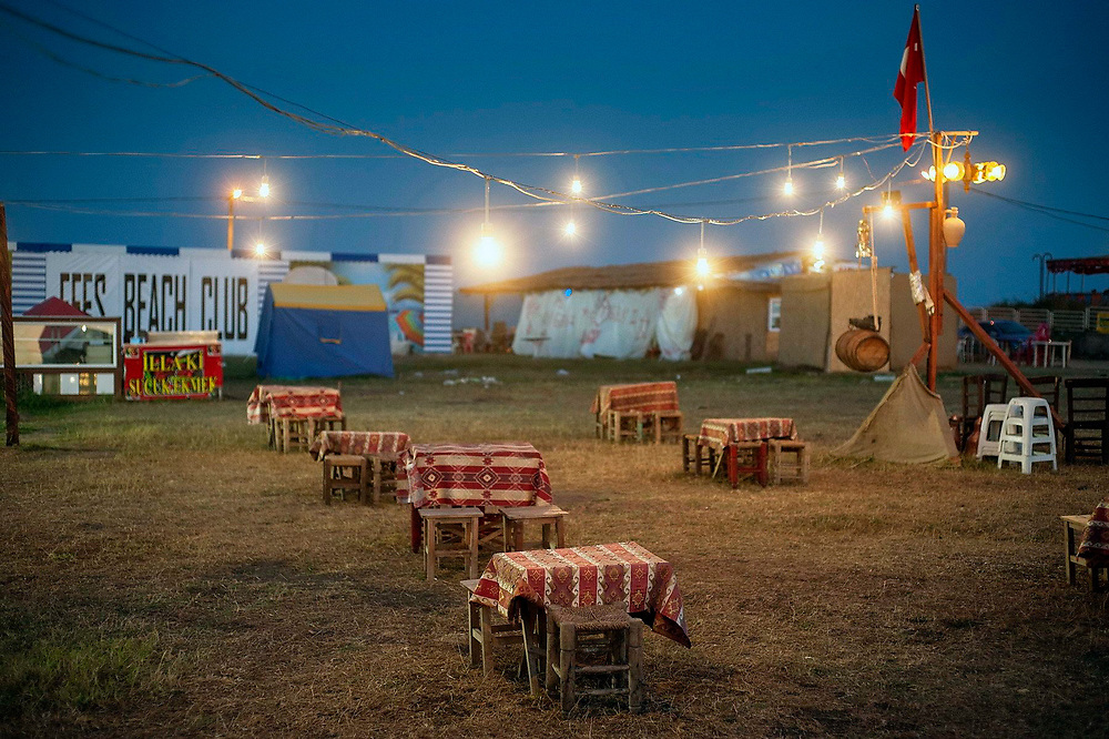 An empty outdoor cafe in the Igneada resort on the Black Sea. It was Ramadam time, and for a few days people were fasting, keeping themselves away from consuming food and beverages during the daytime. Turkey