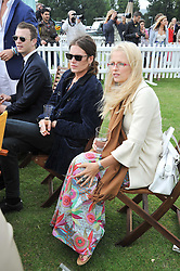 Actor JAMIE BURKE and HANNAH SANDLING at the 2009 Veuve Clicquot Gold Cup Polo final at Cowdray Park Polo Club, Midhurst, West Sussex on 19th July 2009.