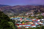 Elevated View Of the City Of Zarcero That Lies In Costa Rica's Cordillera Central (Central Mountain Range).