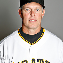 February 17, 2013; Bradenton, FL, USA;  Pittsburgh Pirates hitting coach Jay Bell (3) poses for photo day at Pirate City.  Mandatory Credit: Derick E. Hingle-USA TODAY Sports