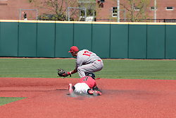 05 May 2018: Eli Raslinson & John Rave during an NCAA Division I Baseball game between the Bradley Braves and the Illinois State Redbirds in Duffy Bass Field, Normal IL