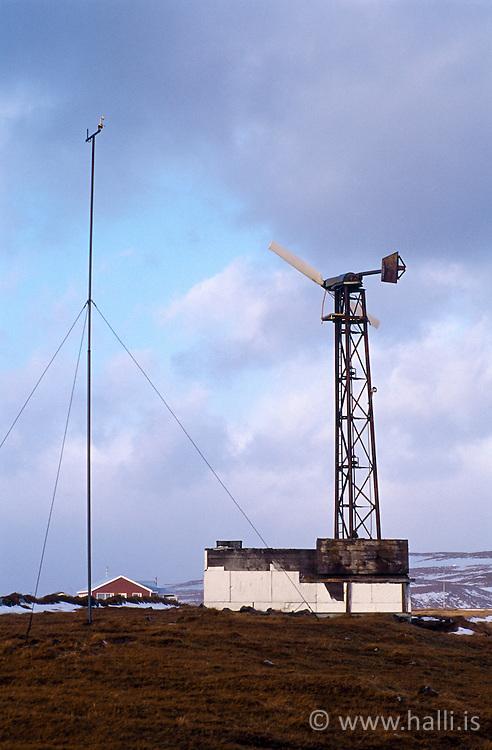 Windmill, Grimsey, north of Iceland - Vindmylla í Grímsey