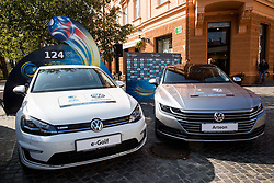 Presentation of VW Volkswagen car company as an official mobility partner of Futsal EURO 2018 in Ljubljana, Slovenia, on September 28, 2017. Photo by Vid Ponikvar / Sportida