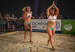 Female winners Tjasa Jancar and Tjasa Kotnik on Beach volley National Championship of Slovenia  on July 20, 2019 in Kranj, Slovenia. Photo by Urban Meglic / Sportida