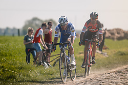 Rider of Quick-Step Floors and BMC Racing Team during the 115th Paris-Roubaix (1.UWT) from Compiègne to Roubaix (257 km) at cobblestones sector 17 from Hornaing to Wandignies, France, 9 April 2017. Photo by Pim Nijland / PelotonPhotos.com | All photos usage must carry mandatory copyright credit (Peloton Photos | Pim Nijland)