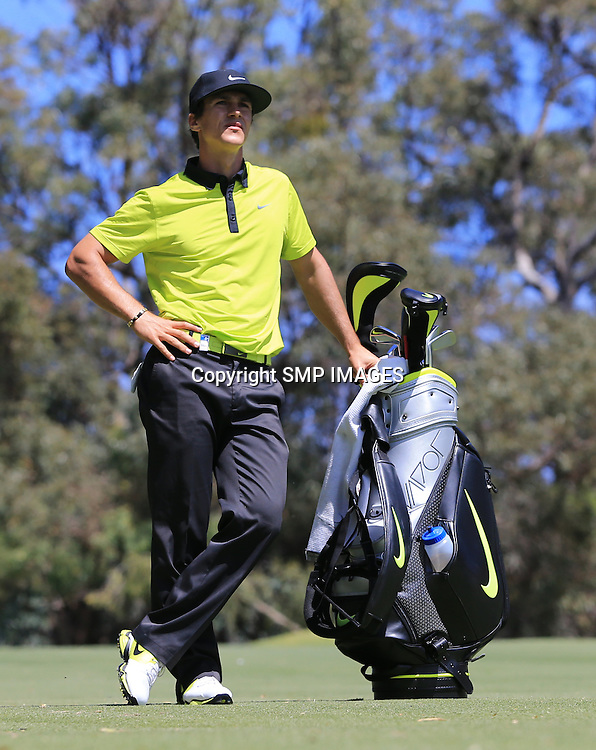 THORBJORN OLESEN - PHOTO SMP IMAGES/IMG MEDIA - 24TH Oct 2014 , THORBJORN OLESEN (DEN) in action during the 2014 ISPS Handa Perth International being played at Lake Karrinyup Country Club, Perth Western Australia. This image is for Editorial Use Only. Any further use or individual sale of the image must be cleared by application to the Manager Sports Media Publishing (SMP Images). NO UN AUTHORISED COPYING : PHOTO SMP IMAGES.COM/IMG MEDIA