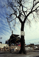 """CHICAGO, IL-1991:  """"Old"""" Comiskey Park, home of the Chicago White Sox from 1910 thru 1990.  It was demolished in 1991.  (Photo by Ron Vesely)"""