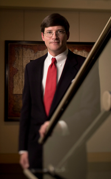 David Keesler photographed when he was with Moore & Van Allen law firm in Charlotte, North Carolina