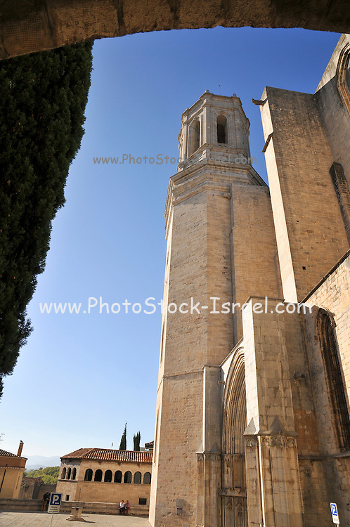 Girona, Cathedral belfry, Historic centre, Catalonia, Spain