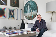 London, England, UK, February 4 2018 - Portrait of Russian art collector Igor TSUKANOV at his home in Kensington.