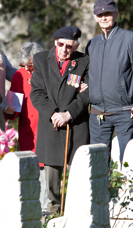© Licensed to London News Pictures. 11/11/2012. Harefield, Hillingdon, London, U.K..Remembrance Sunday ceremony  at the ANZAC (Australian and new zealand army corps) war graves in harefield, London Borough of Hillingdon today (11/11/12)...Photo credit : Rich Bowen/LNP