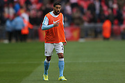 Manchester City defender Gael Clichy (22) during the Capital One Cup match between Liverpool and Manchester City at Anfield, Liverpool, England on 28 February 2016. Photo by Simon Davies.