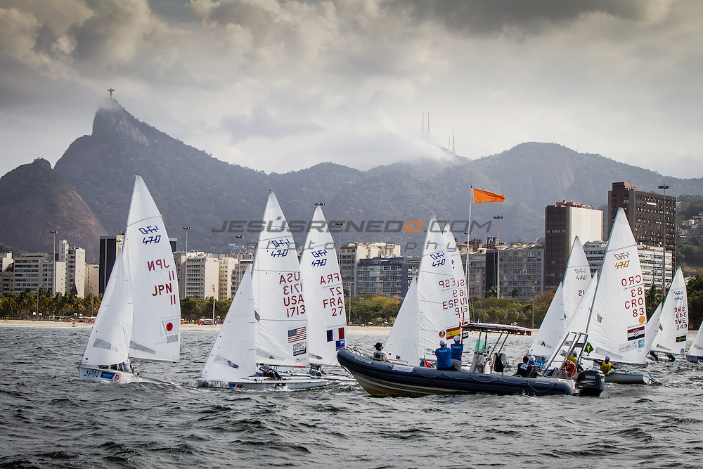 Aquece Rio &ndash; International Sailing Regatta 2015 is the second sailing test event in preparation for the Rio 2016 Olympic Sailing Competition. Held out of Marina da Gloria from 15-22 August, the Olympic test event welcomes more than 330 sailors from 52 nations in Rio de Janeiro, Brazil.<br /> <br /> Credit Jesus Renedo/Sailing Energy