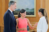 072319 Spanish Royals attend an audience with swimmer Ona Carbonell