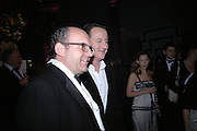 Michael Spencer and David Cameron. The Black and White Winter Ball. Old Billingsgate. London. 8 February 2006. -DO NOT ARCHIVE-© Copyright Photograph by Dafydd Jones 66 Stockwell Park Rd. London SW9 0DA Tel 020 7733 0108 www.dafjones.com