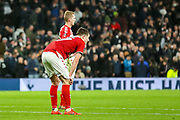 Middlesbrough players at full time during the FA Cup third round replay match between Tottenham Hotspur and Middlesbrough at Tottenham Hotspur Stadium, London, United Kingdom on 14 January 2020.