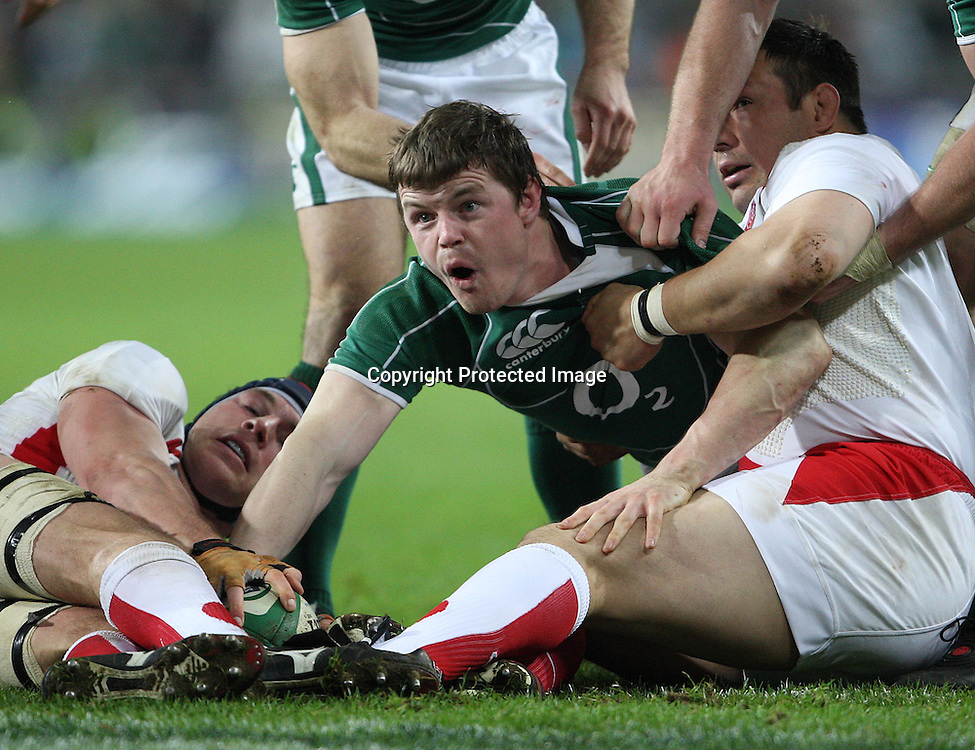 RBS Six Nations Championship, Croke Park 28/2/2009<br />Ireland vs England<br />Brian O'Driscoll scores a try<br />Mandatory Credit &copy;INPHO/Billy Stickland *** Local Caption ***