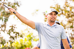 May 3, 2019 - Charlotte, NC, U.S. - CHARLOTTE, NC - MAY 03: Jason Day motions down the course as his drive sails right during the second round of the Wells Fargo Championship at Quail Hollow on May 3, 2019 in Charlotte, NC. (Photo by William Howard/Icon Sportswire) (Credit Image: © William Howard/Icon SMI via ZUMA Press)
