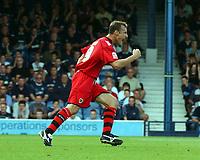 Photo: Olly Greenwood.<br />Southend United v Cardiff City. Coca Cola Championship. 24/09/2006. Cardiff's Ricardo Scimeca celebrates scoring