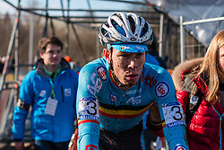 Laurens Sweeck (BEL), Men Under 23, Cyclo-cross World Championships Tabor, Czech Republic, 1 February 2015, Photo by Pim Nijland / PelotonPhotos.com