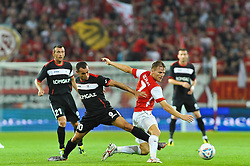 28.07.2011, Coface Arena, Mainz, GER, UEFA Europa League, Mainz 05 vs CS Gaz Metan Medias, im Bild vl. Cristian Todea (Gaz Metan #21), Thaer Bawab (Gaz Metan #10), Eugen Polanski (Mainz #7) // during the GER, UEFA Europa League, Mainz 05 vs CS Gaz Metan Medias on 2011/07/28, Coface Arena, Mainz, Germany. EXPA Pictures © 2011, PhotoCredit: EXPA/ nph/  Roth       ****** out of GER / CRO  / BEL ******