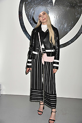Joanna Kuchta at the Charlotte Simone LFW Autumn Winter 2017 showcase, The Vinyl Factory, 51 Poland Street, London England. 17 February 2017.