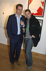 Left to right, CHARLES PHILLIPS and Actor JOHNNY LEE-MILLER at a private view of artist Natasha Law's work entitled 'Hold' held at Eleven, 11 Eccleston Street, London SW1 on 12th January 2006.<br /><br />NON EXCLUSIVE - WORLD RIGHTS