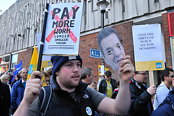 Public sector workers striking against pension cuts, Reading 30 Nov 2011.  Part of a nationwide day of action