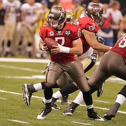 2008 September 7:Tampa Bay Buccaneers quarterback Jeff Garcia (7) prepares to pass as New Orleans Saints defensive end Will Smith (91) pressures during their game at the Louisiana Superdome in New Orleans, LA.