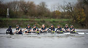Womens Trial VIII's for 71st Women's University Boat Race, sponsored by Newton,held on the Championship Course from Putney to Mortlake, Thursday 10 December 2015.<br /> <br /> OUWBC Trial VIII's between CHARYBDIS on Surrey in Yellow Boat and SCYLLA on Middlesex in White Boat<br /> <br /> CHARYBDIS, Bow, Georgie Daniell, 2, Christina Fleischer, 3, Lara Pysden, 4, Emma Spruce, 5, Ruth Siddorn, 6, Elo Luik, 7, Kate Erickson, Stroke, Maddy Badcott, Cox, Morgan Baynham-Williams<br /> <br /> SCYLLA, Bow, Issy Dodds, 2, Merel Lefferts, 3, Elettra Ardissino, 4, Rebecca Te Water Naude, 5, Anastasia Chitty, 6, Joanne Jansen, 7, Lauren Kedar, Stroke, Emma Lukasiewicz, Cox, Antonia Stutter [Mandatory Credit; Intersport Images]