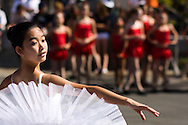 A girl participates in of the performances of the Royal Dance Academy  during the Halloween carnival at the Ashley Falls School in Carmel Valley on October 19, 2008.