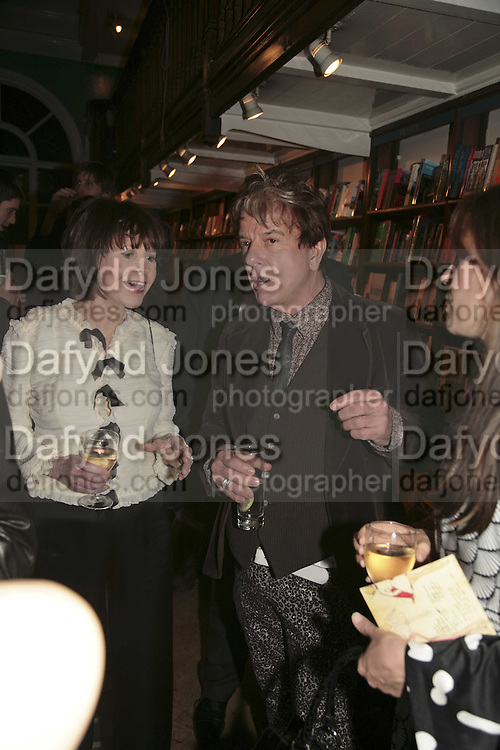 Marguerite Littman and Nicky Haslam, Book launch of Pretty Things by Liz Goldwyn at Daunt <br />