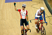 MenElimination Race, Rui Oliveira (Portugal) - Matthew Wall (Great Britain), during the Track Cycling European Championships Glasgow 2018, at Sir Chris Hoy Velodrome, in Glasgow, Great Britain, Day 6, on August 7, 2018 - Photo luca Bettini / BettiniPhoto / ProSportsImages / DPPI<br /> - Restriction / Netherlands out, Belgium out, Spain out, Italy out -