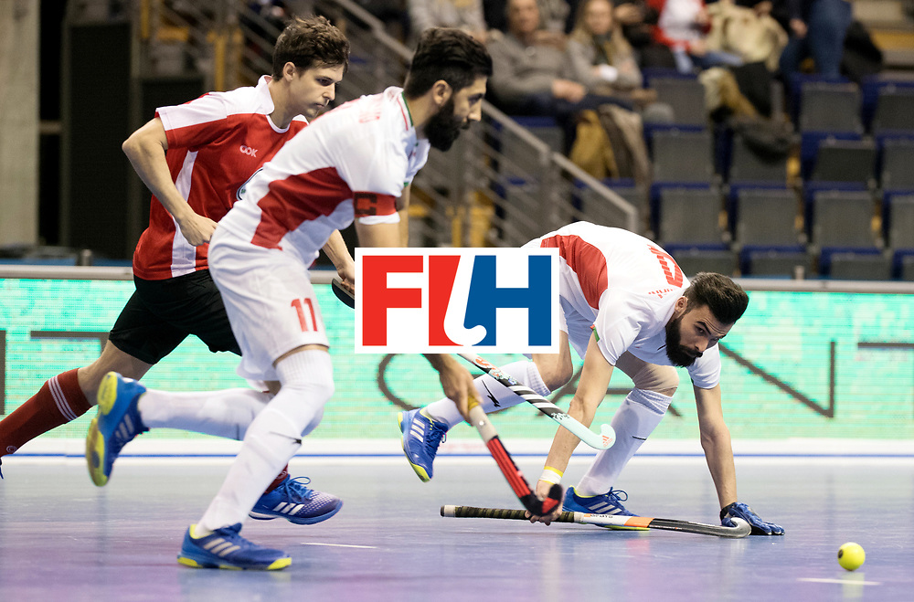 BERLIN - Indoor Hockey World Cup<br /> Men: Iran - Austria<br /> foto: ASNAASHARI Mohammad.<br /> WORLDSPORTPICS COPYRIGHT FRANK UIJLENBROEK