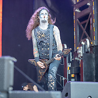2019-06-06 | Norje, Sweden: Matthew Greywolf performing at Sweden Rock Festival ( Photo by: Roger Linde | Swe Press Photo )<br /> <br /> Keywords: Sweden Rock Festival, Norje, Festival, Music, SRF, Powerwolf