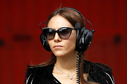 Motorsports / Formula 1: World Championship 2011, Testing in Barcelona, test,  Jessica Michibata girlfriend of Jenson Button (GBR, Vodafone McLaren Mercedes)