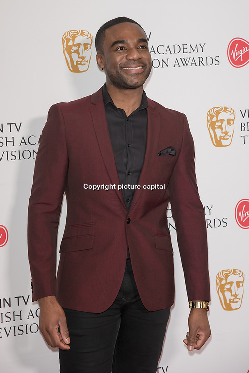 Ore Oduba attend the Virgin TV BAFTA TV Nominations Press Conference, London, UK - 04 April 2018 at BAFTA, Piccadilly, London, UK.