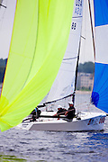 Elevation Racing, Melges 20 Class, sailing in the Bacardi Newport Sailing Week regatta, day 2.