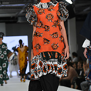 Designer Evelyne Babin at the Best of Graduate Fashion Week showcases at the Graduate Fashion Week 2018, June 6 2018 at Truman Brewery, London, UK.