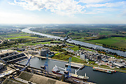 Nederland, Zeeland, Zeeuws-Vlaanderen, 19-10-2014;<br /> Haven van Terneuzen met kanaal Gent-Terneuzen.<br /> Port of Terneuzen with Ghent-Terneuzen canal.<br /> luchtfoto (toeslag op standard tarieven);<br /> aerial photo (additional fee required);<br /> copyright foto/photo Siebe Swart