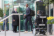 Paul Pogba departs the Lowry hotel before the Manchester United vs Celta Vigo match  at Old Trafford, Manchester, United Kingdom on 11 May 2017. Photo by Phil Duncan.