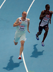 Jan Zumer of Slovenia competes in the Mens 200m Heats during day three of the 20th European Athletics Championships at the Olympic Stadium on July 29, 2010 in Barcelona, Spain. (Photo by Vid Ponikvar / Sportida)
